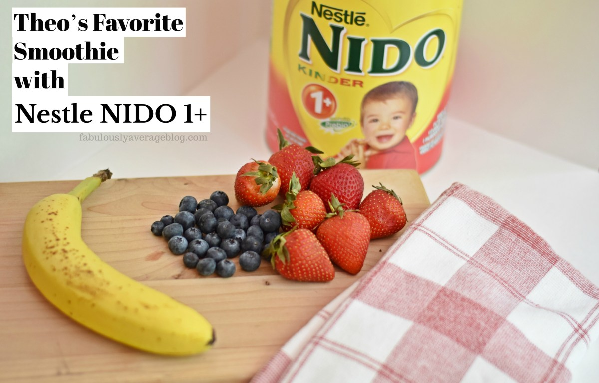 Theo's Favorite Smoothie with Nestle NIDO 1+